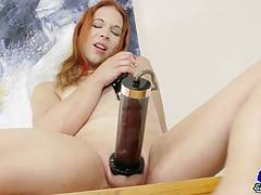 Lady Chrysallis Estrella has a hot body, sexy boobs, a great ass and a thick hard cock! Watch this sexy tgirl playing with her penis pump and jacking off!