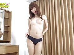How can anyone resist the alluring beauty of a 25 year old brunette ladyboy? Pang is a blossoming star in the industry and still she`s open to learning new crazy things! This hottie is a natural seducer and she`s here to prove it. Enjoy!