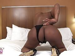 Hot Iconic Sex is a gorgeous tgirl with a sexy curvy body, big boobs, a great ass and a big hard cock! Watch this sexy transgirl stripping and shaking her ass for you!