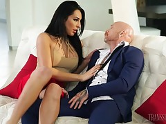 Sexy FTM superstar Buck Angel has fun with brunette TS stunner Chanel Santini. Buck gets things started by sucking Chanel`s stiff cock, and Chanel returns the favor by eating Buck`s pussy. Chanel fucks Buck in several positions, making him cum multiple ti