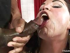 Tranny Videos cumshot