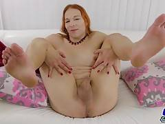 Lady Chrysalis Estrella has a hot body, sexy perky tits, a juicy ass and a thick hard cock! Watch this hot tgirl stroking her cock and showing off her sexy butt!